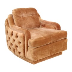 1970's Folio 500 Collection Tufted Club Chair by Henredon