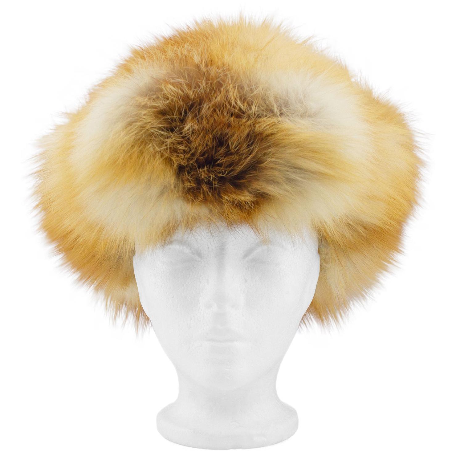 1970s Fox Fur Ushanka Hat