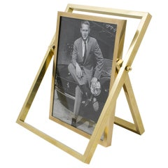 1970s French Brass Picture Frame
