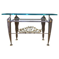 1970s French Bronze Console Table