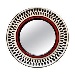 1970s French Ceramic Mirror