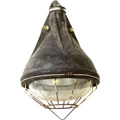 1970s French Industrial Light with Cage