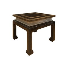 1970s French Maison Jansen Style Square Lacquered Wood Side Table