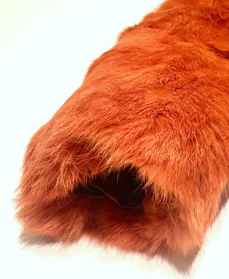 1970'S French Rabbit Fur & Leather Pea Coat by, Fur Couture Beverly Hills 3