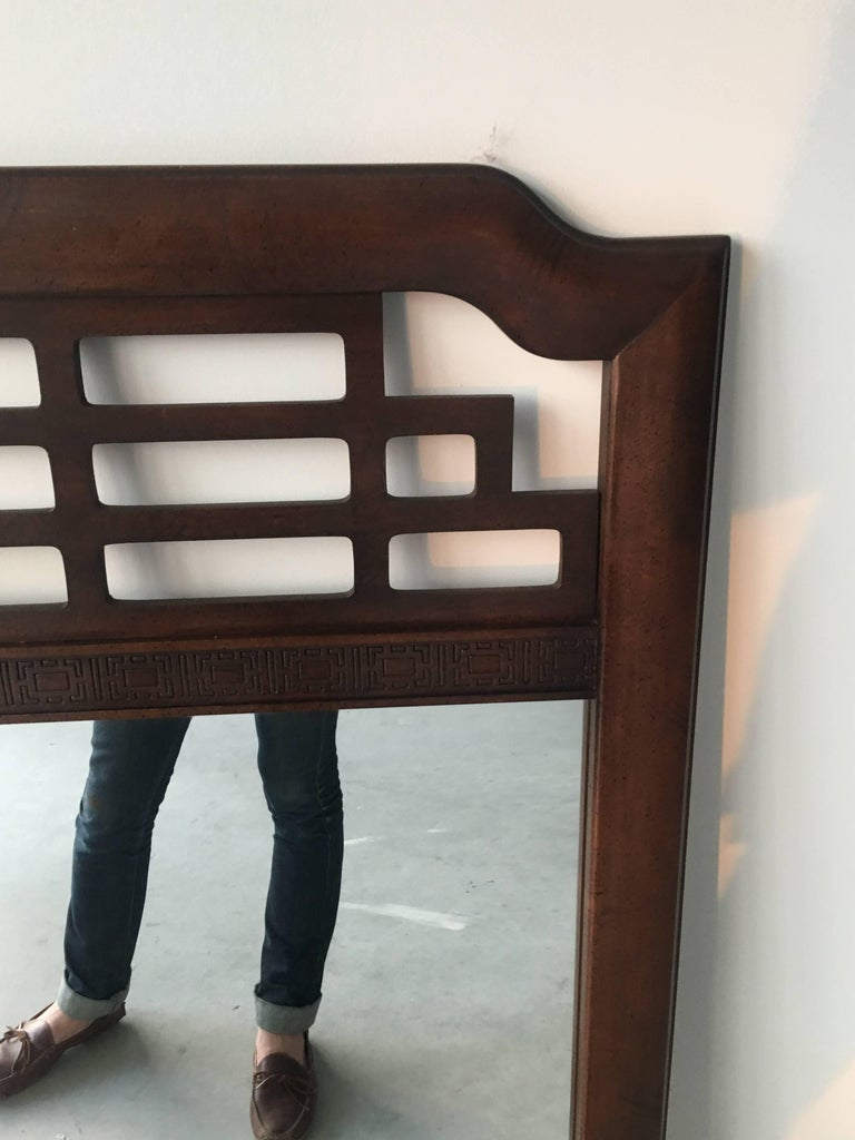 1970s Fretwork Mirror In Good Condition For Sale In Richmond, VA