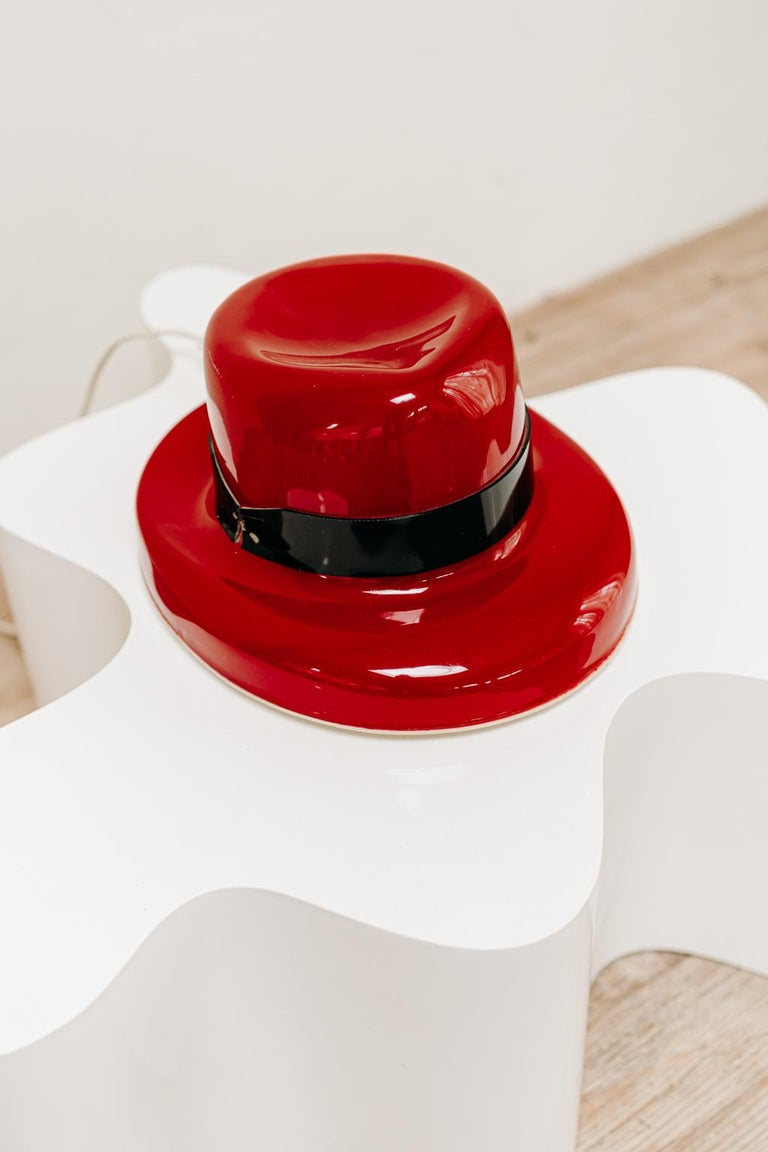1970's Funky Red Hat Lamp For Sale 1