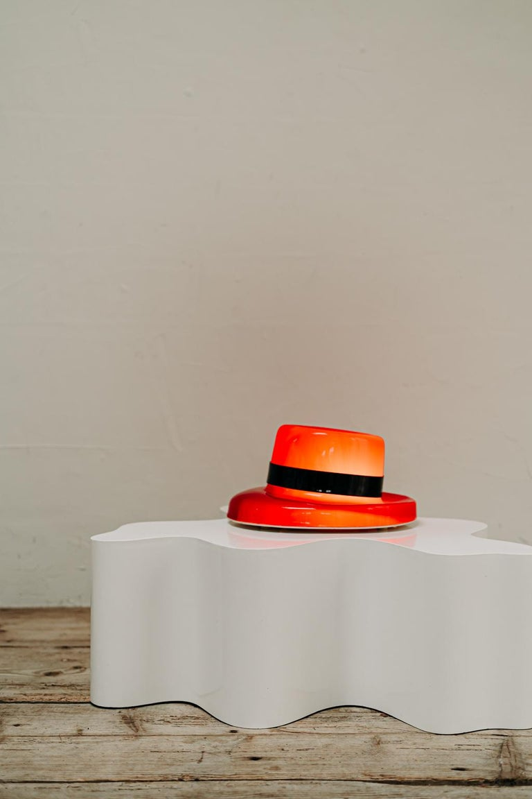 1970's Funky Red Hat Lamp For Sale 2