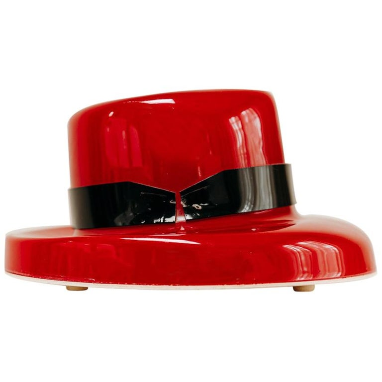 1970's Funky Red Hat Lamp For Sale