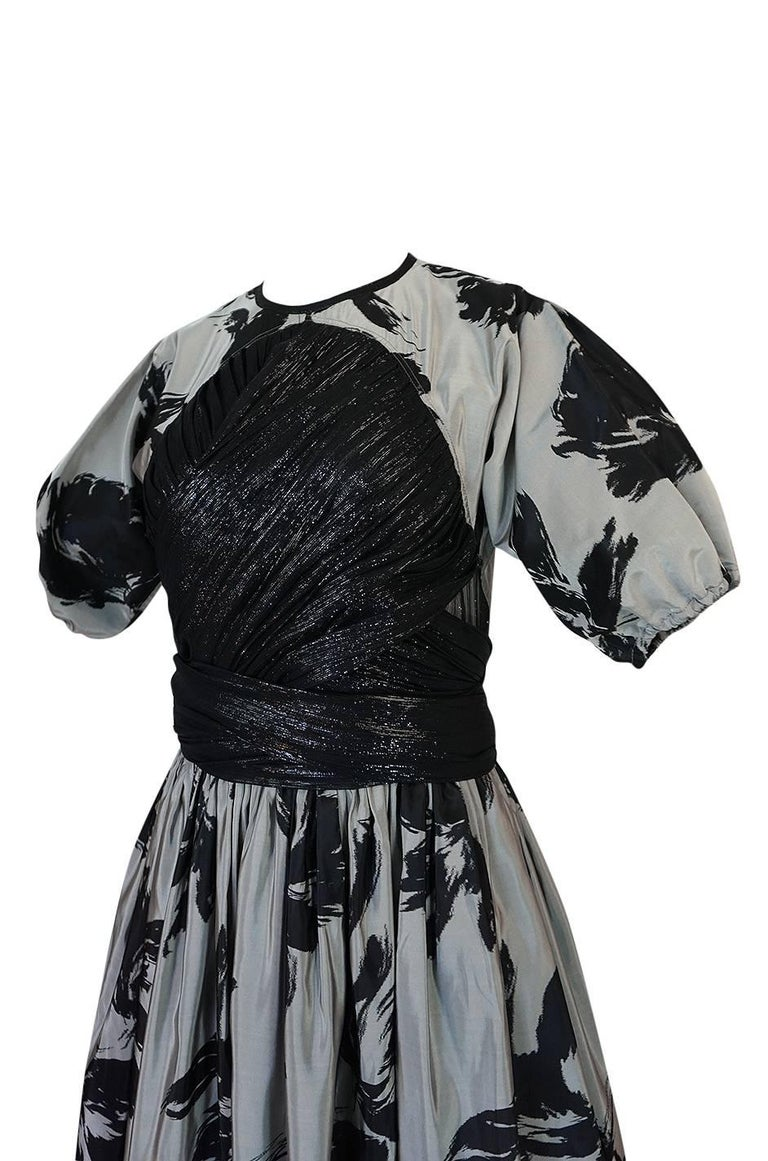 1970s Geoffrey Beene Couture Silk Dress with Semi-Transparent Inset For Sale 6