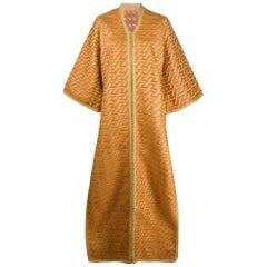 1970s Geometric Fancy Silk Kimono
