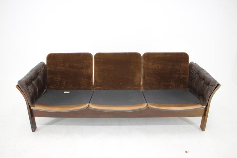 1970s Georg Thams 3-Seat Sofa in Dark Brown Leather, Denmark For Sale 6