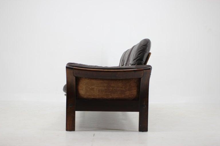 Danish 1970s Georg Thams 3-Seat Sofa in Dark Brown Leather, Denmark For Sale
