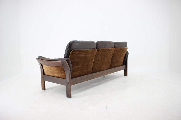 Late 20th Century 1970s Georg Thams 3-Seat Sofa in Dark Brown Leather, Denmark For Sale