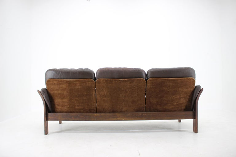 1970s Georg Thams 3-Seat Sofa in Dark Brown Leather, Denmark For Sale 2