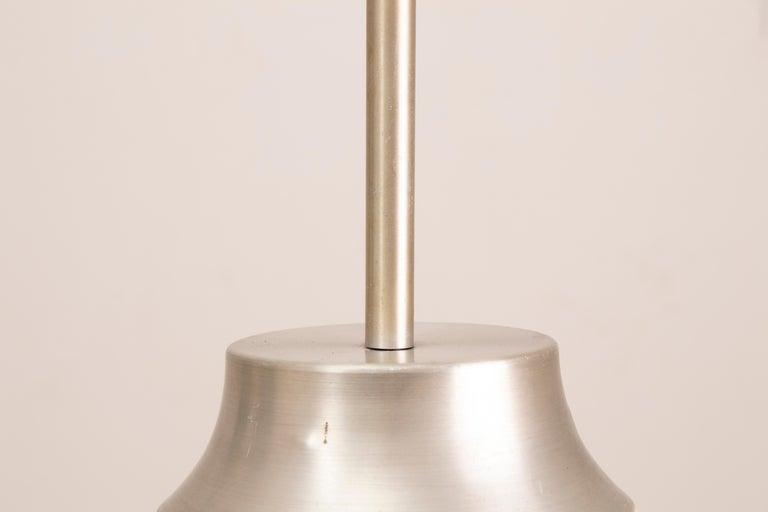 1970s German Doria Leuchten Crackle Glass Bulbous Pendant Light For Sale 1