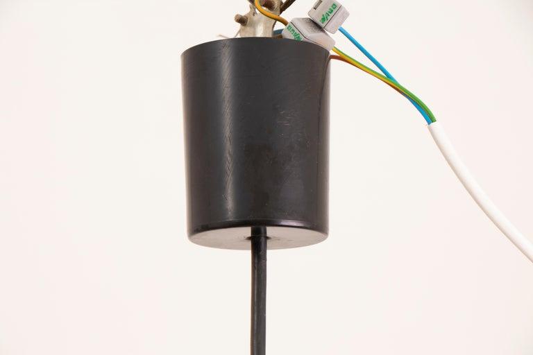 1970s German Doria Leuchten Crackle Glass Bulbous Pendant Light For Sale 2