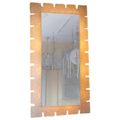 1970s German Hillebrand Backlit Wall Mirror with Acrylic Frosted Iced Surround