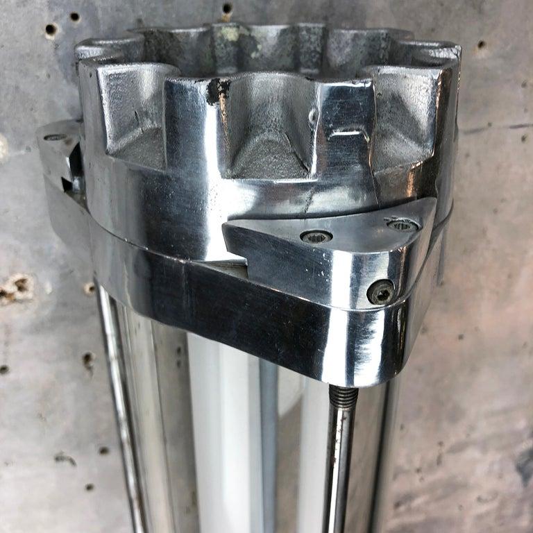 1970s German Industrial Aluminium & Glass Explosion Proof LED Striplight For Sale 9