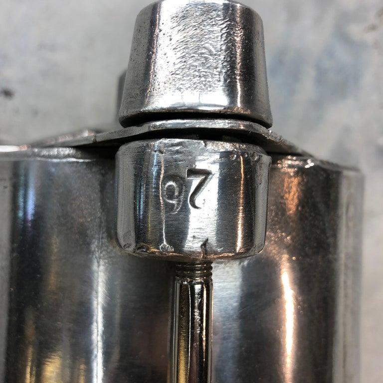 1970s German Industrial Cast Aluminium & Glass Explosion Proof LED Strip Light For Sale 11