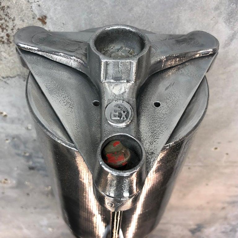 1970s German Industrial Cast Aluminium & Glass Explosion Proof LED Strip Light For Sale 12