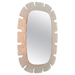 1970s German Lucite Illuminated Mirror