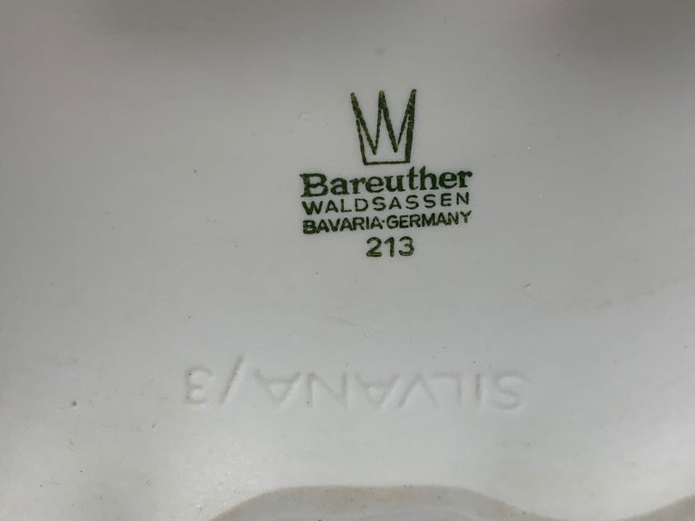 1970s German Op Art 'Bark' Matt White Bisque Porcelain Bareuther Vase For Sale 4