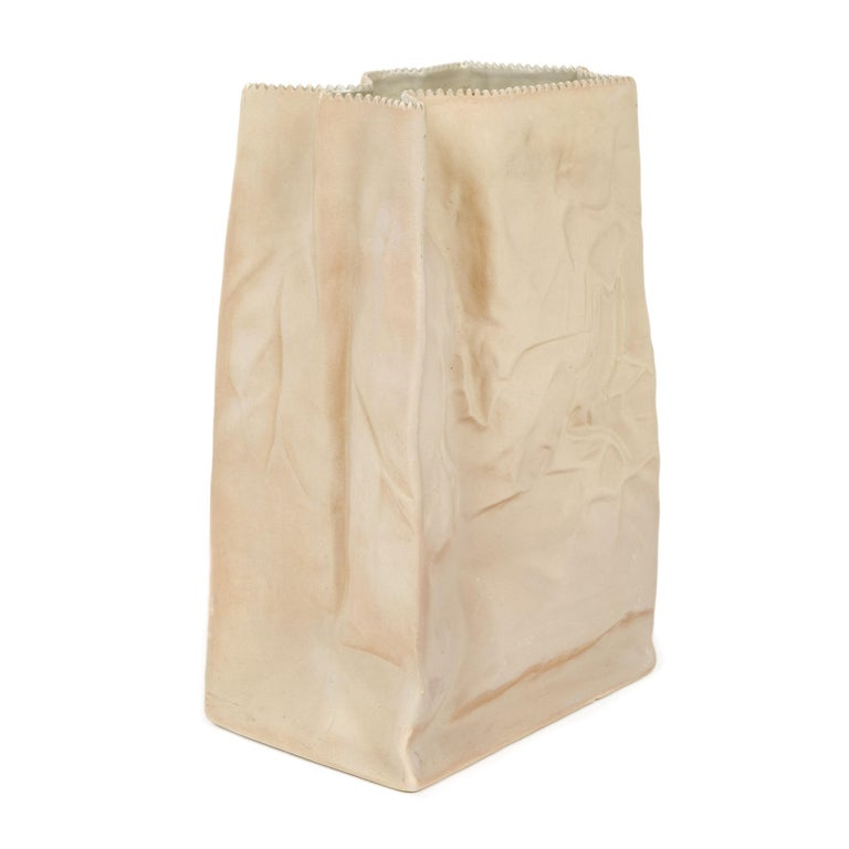 Late 20th Century 1970s German Extra Large Paper Bag Vase by Tapio Wirkkala for Rosenthal For Sale