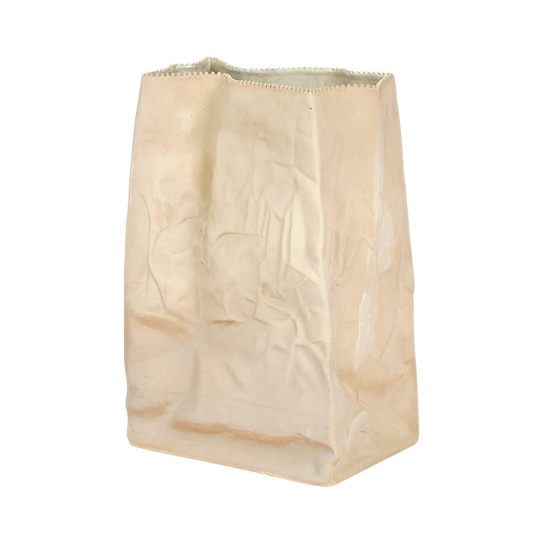 1970s German Extra Large Paper Bag Vase by Tapio Wirkkala for Rosenthal For Sale