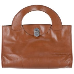 1970s Gherardini Brown Leather Bag