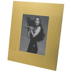 1970s Gilt Aluminum Picture Frame by Umberto Mascagni