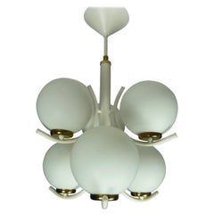 1970s Globe Modernist Chandelier Bubble Pendant