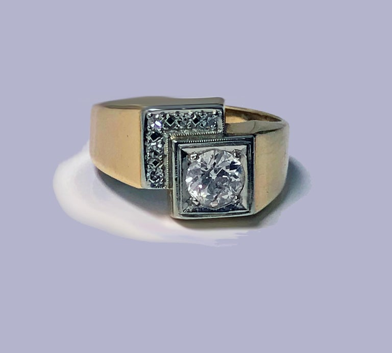 1970s Gold Diamond Ring For Sale 2
