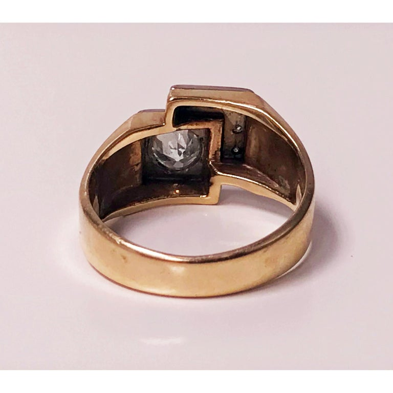 1970s Gold Diamond Ring For Sale 3