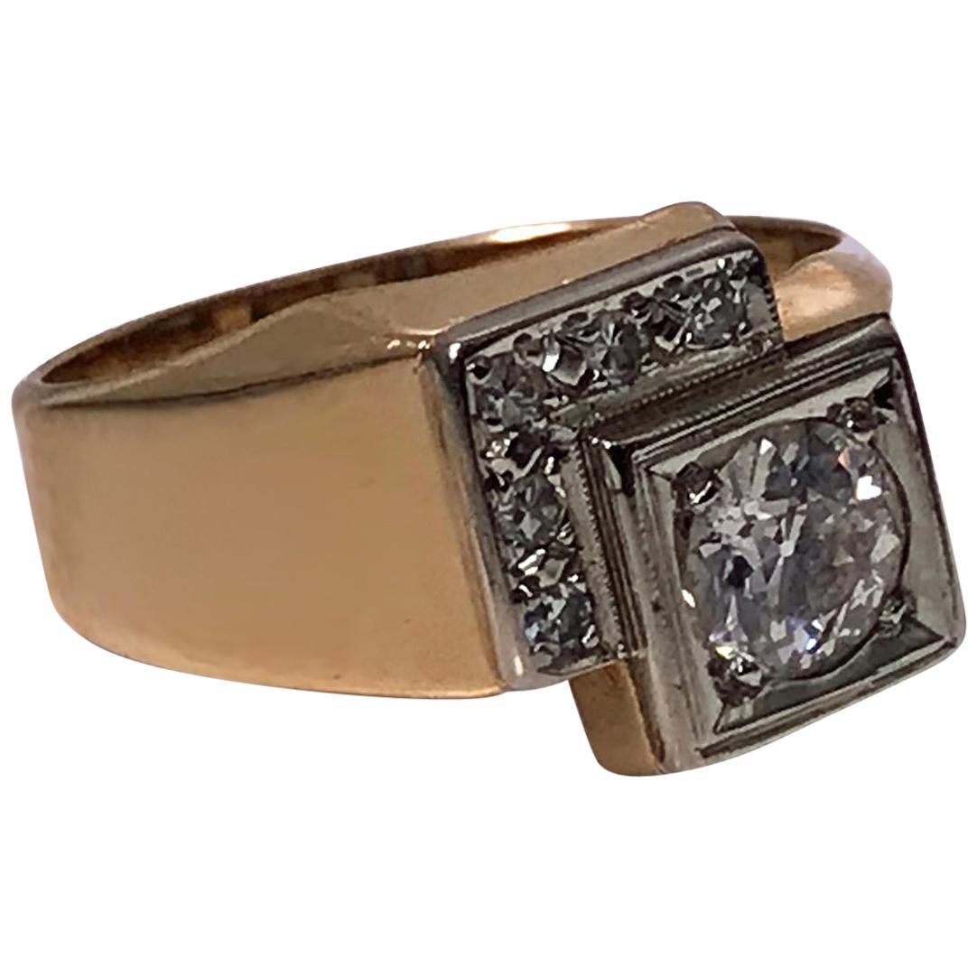 1970s Gold Diamond Ring