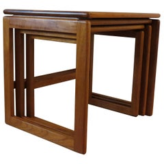 1970s Good Quality Danish Nest of Tables in Solid Teak