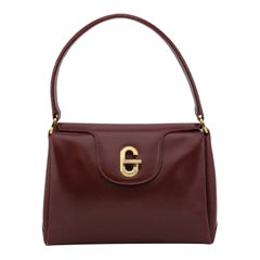 1970s Gucci Bordeaux Leather Top Handle Bag