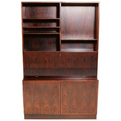 1970s Gunni Omann Refinished Rosewood Shelving Unit / Bureau by Omann Jun