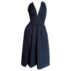 1970s Halston Silk Dress