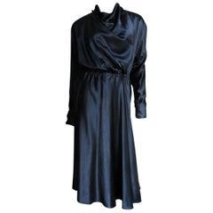 1970s Halston Silk Wrap Dress