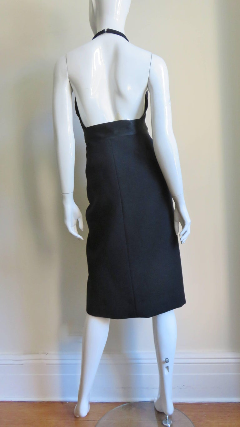 1970s Halston Wrap Halter Dress For Sale At 1stdibs