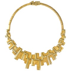 1970s Haroldo Burle Marx Gold Necklace