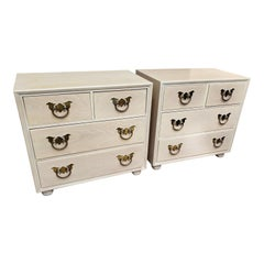 1970s Henredon American Asian Inspired Bachelor Chests / Nightstands, a Pair