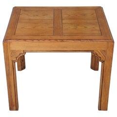 1970s Henredon Four Centuries French Country Rectangular Oak Side End Table Vtg