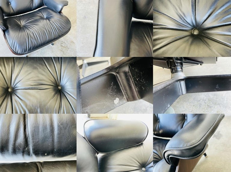 1970s Herman Miller Eames Lounge Chair and Ottoman For Sale 7