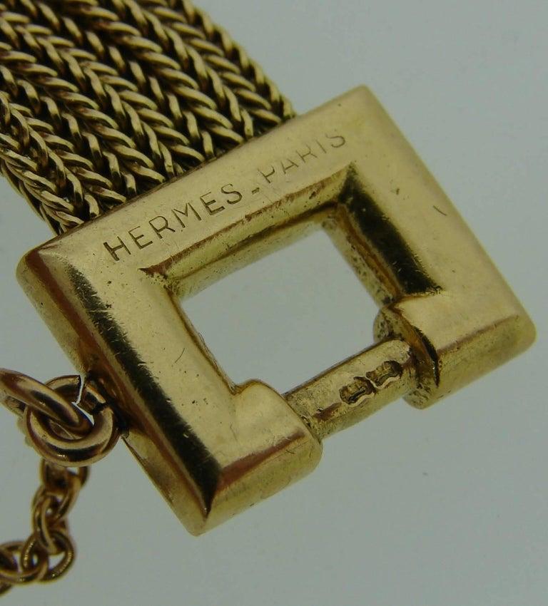 1970s Hermes Gold Equestrian Buckle Bracelet For Sale 1