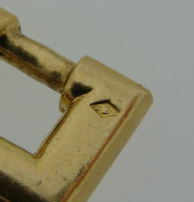 1970s Hermes Gold Equestrian Buckle Bracelet For Sale 2