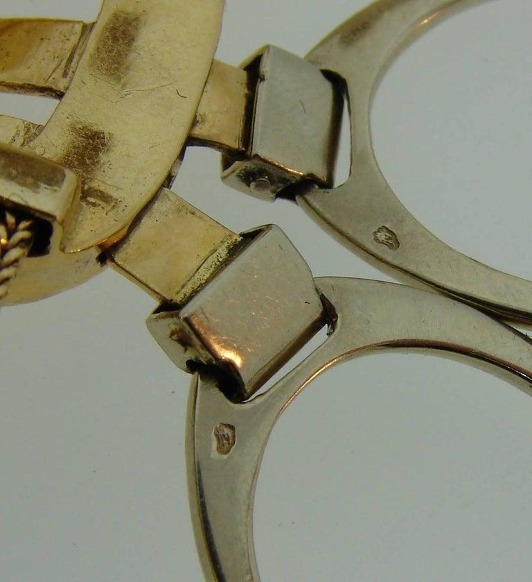 1970s Hermes Gold Equestrian Buckle Bracelet For Sale 3