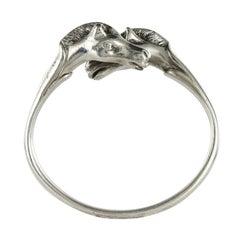 1970s Hermès Signed Horses Heads Silver Bracelet