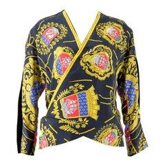 1970s Hermes Silk and Velvet Jacket