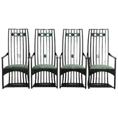 1970s High Back Mackintosh Chairs, Set of 4